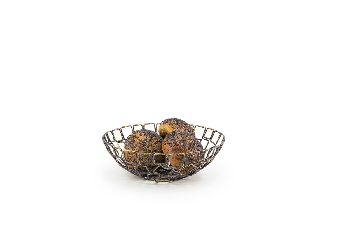 8 Round Coppered Link Bowl