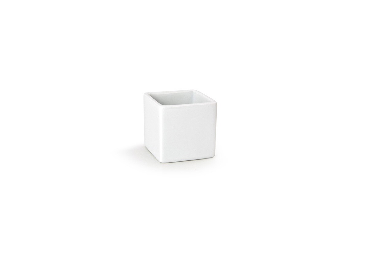 3oz Square Canvas Ramekin - White