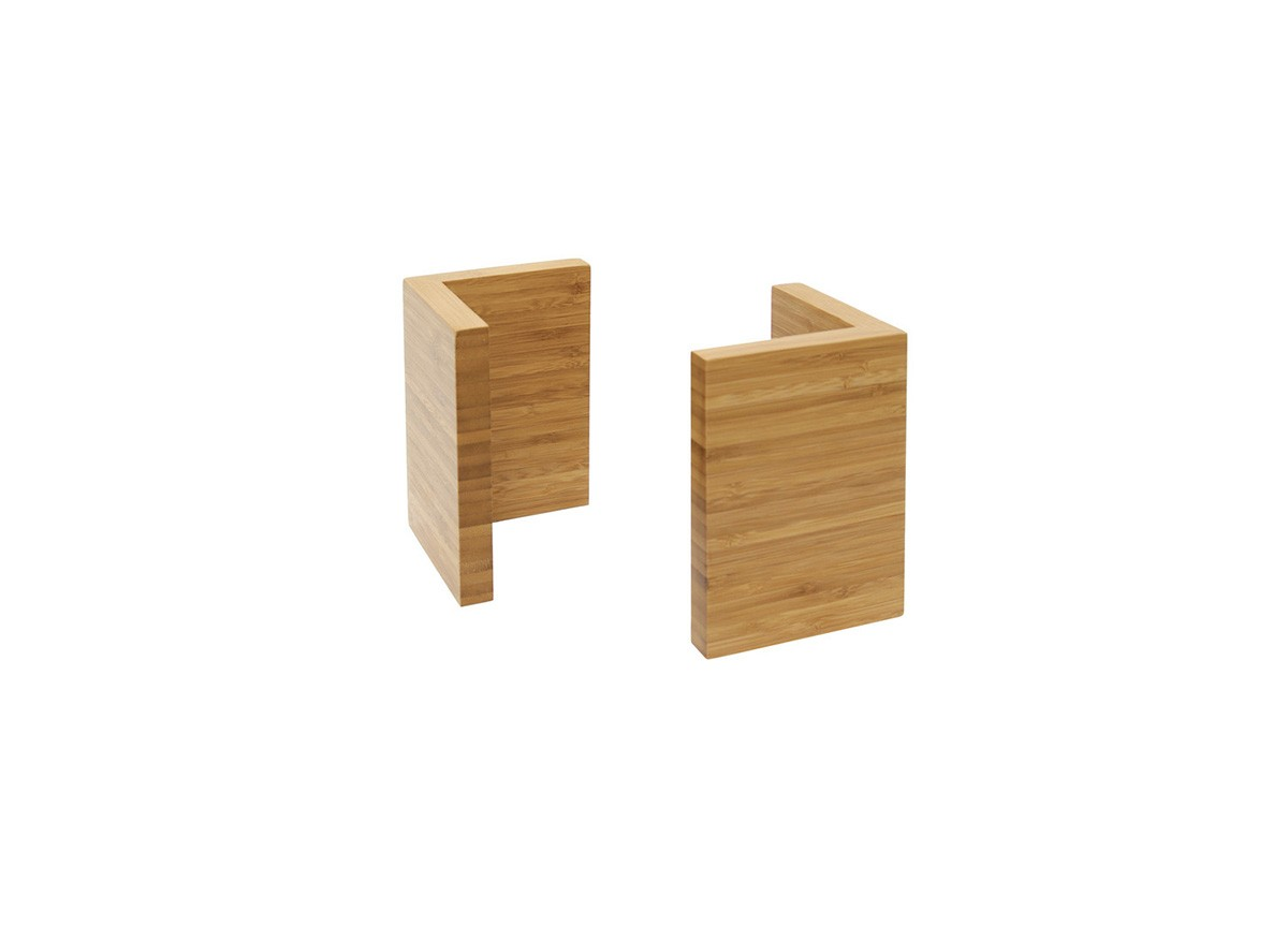 Large Bamboo L Riser - Set of 2 - Natural