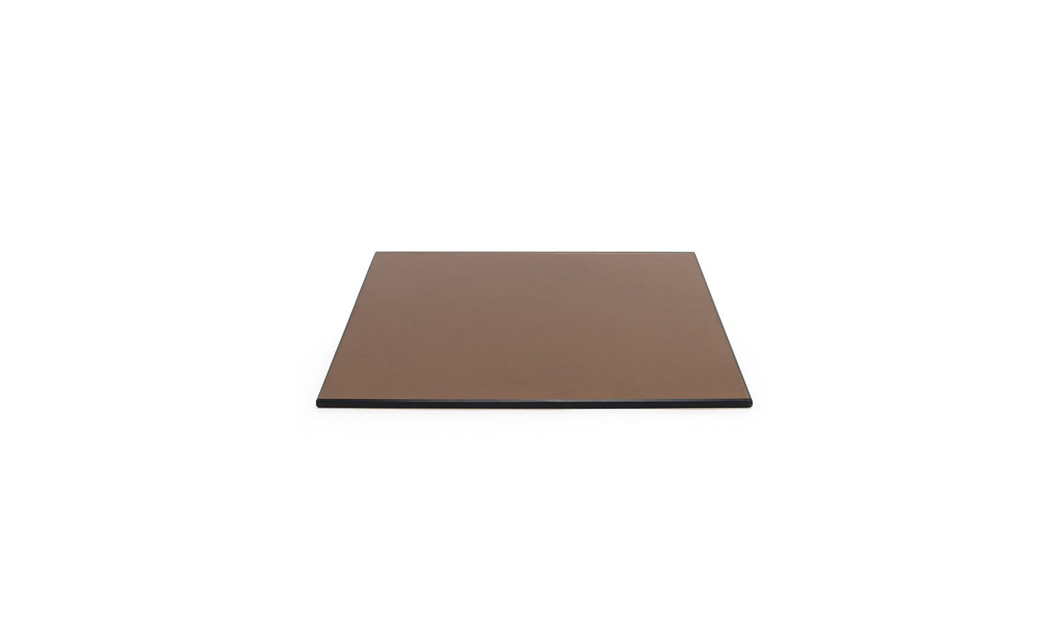 "14"" x 14"" Buffet Boards - Amber Tempered Glass"