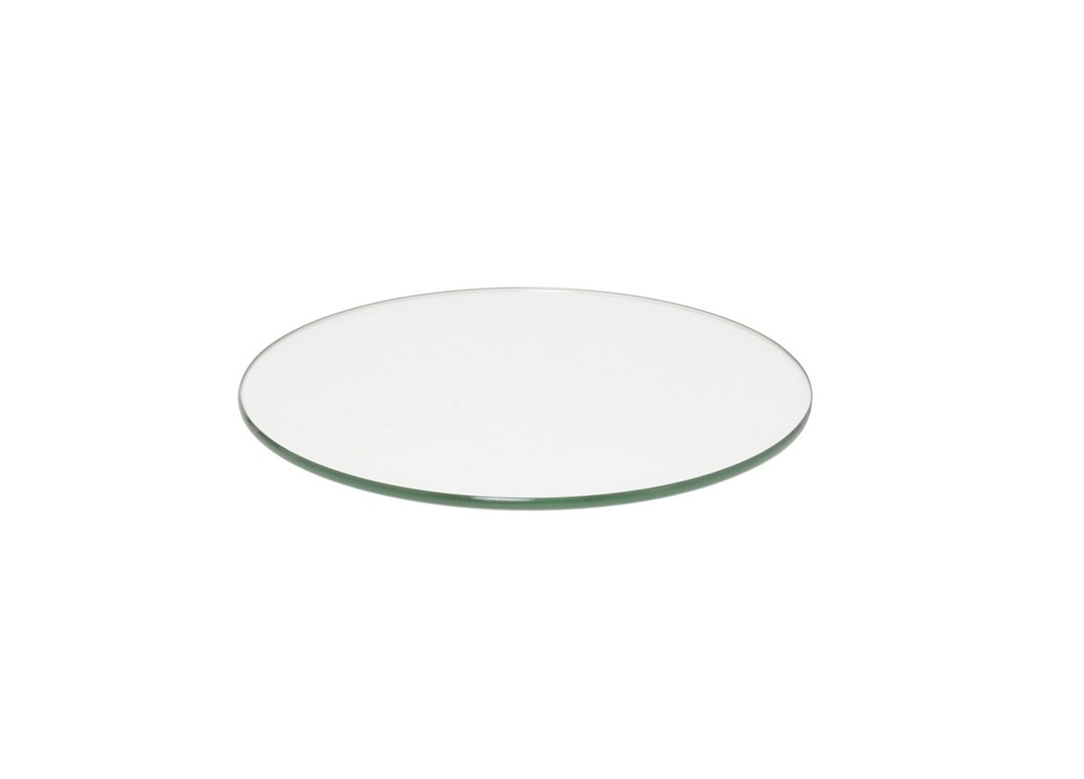 "14"" Round Buffet Boards - Clear Tempered Glass"