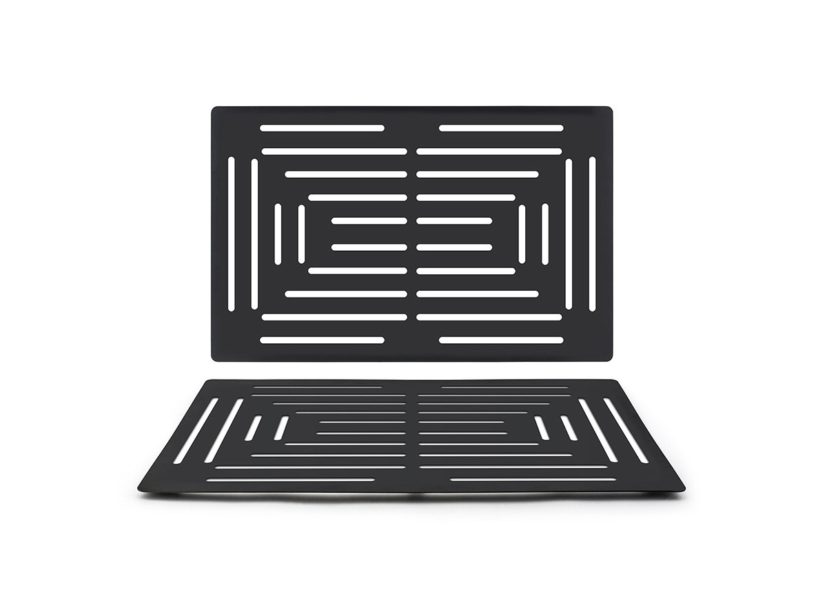 Rectangle SS Grill Plate - Matte Black