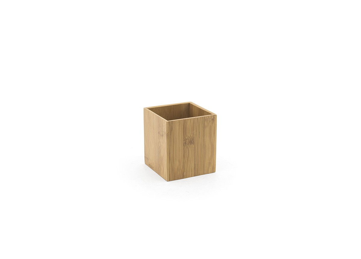 "3.75"" Square Bamboo Holder - Natural"