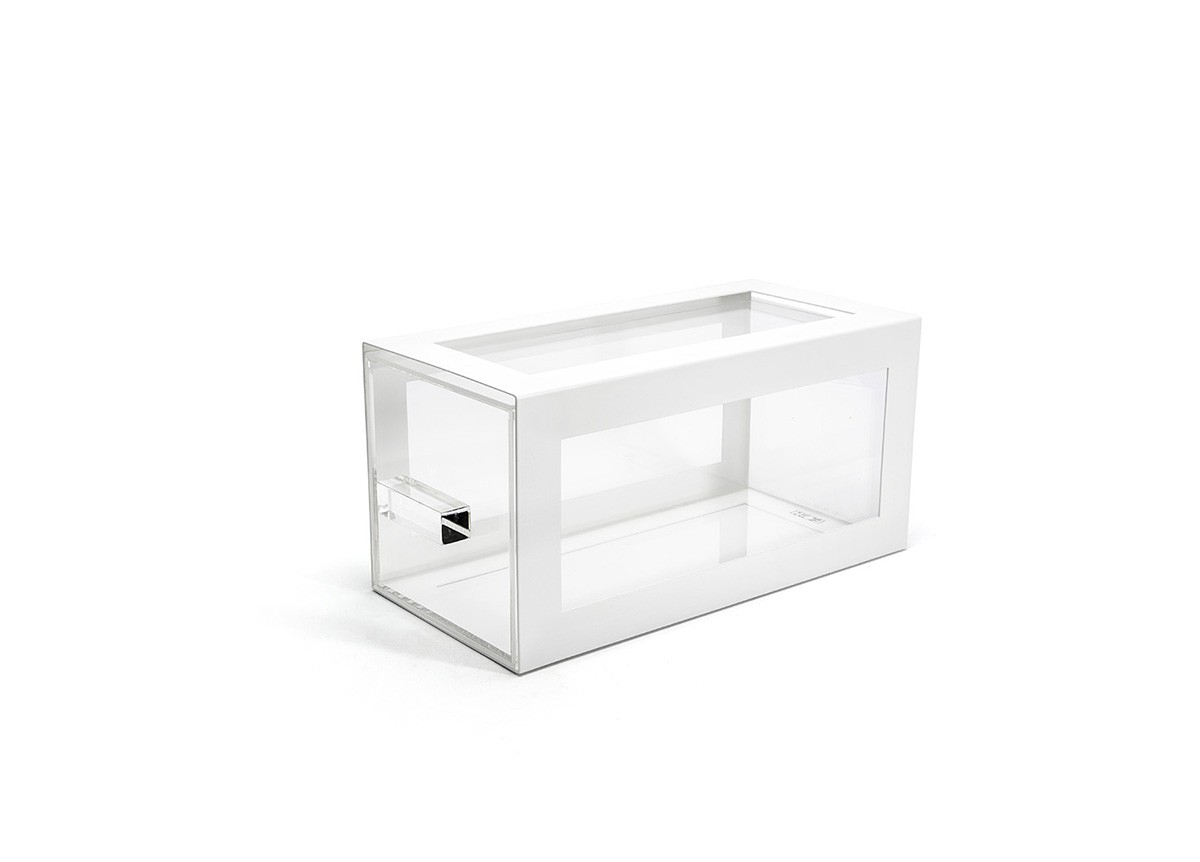 Metal Housing/ Drawer Set - White