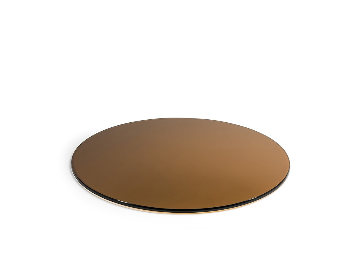 """19"""" Round Tempered Glass Board - Amber"""