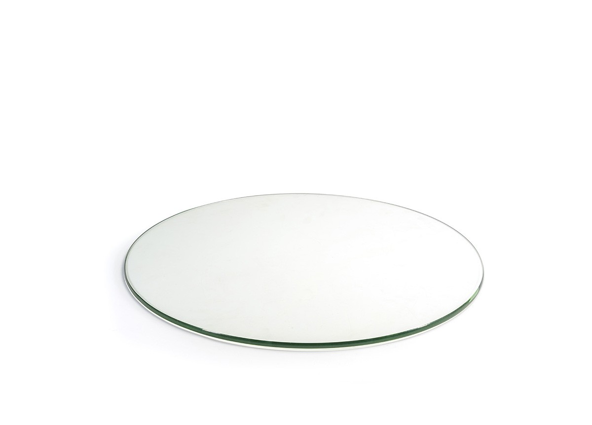"19"" Round Tempered Glass Board - Clear"