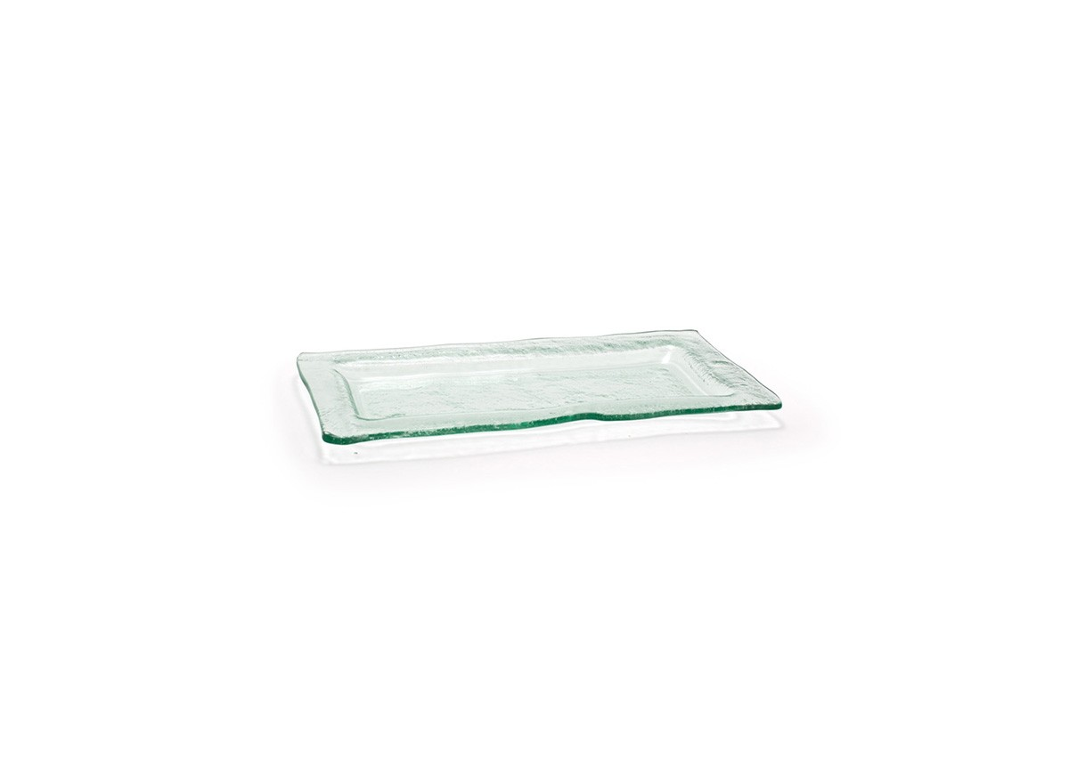 "11"" x 5.5"" Rectangle Arctic Plate - Clear"