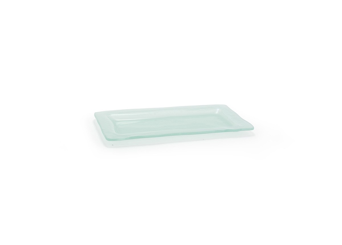 "11"" x 5.5"" Rectangle Arctic Plate - frosted"