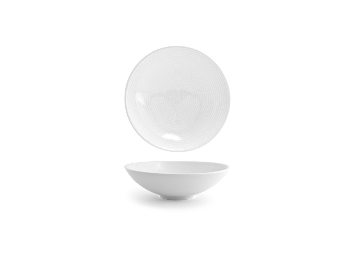 "8.25"" Spiral Wide Bowl - White"