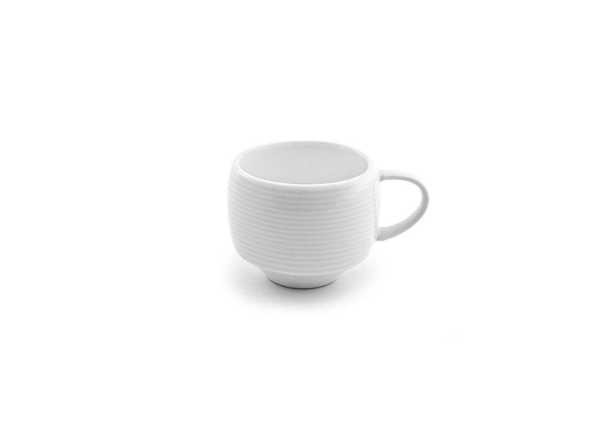 8oz Spiral Stackable Cup - White