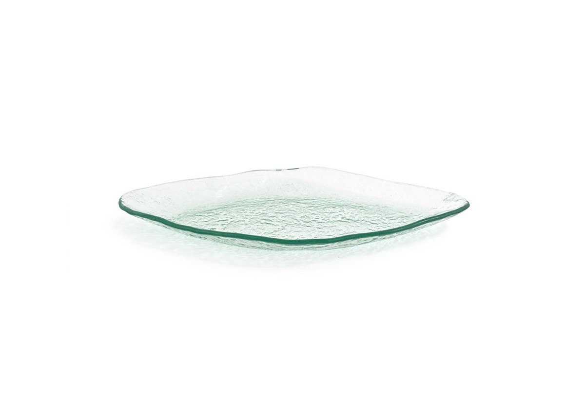 "13.75"" Oval Arctic Plate - Clear"