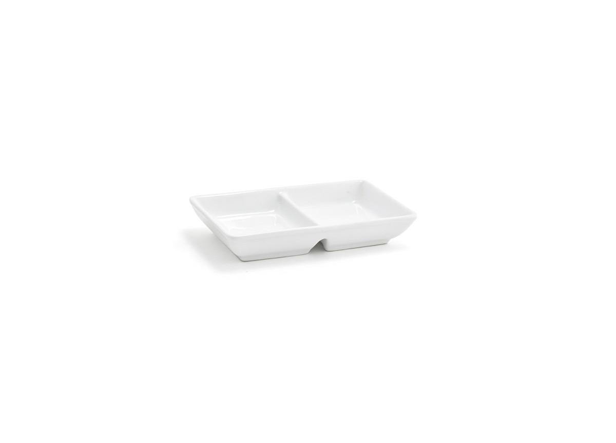 Stackable Two Part Dish - White
