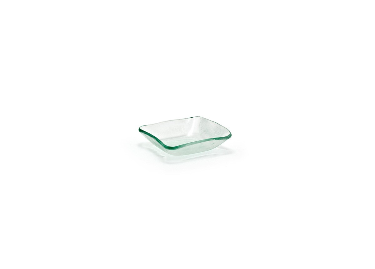 """3.25"""" Tall Square Arctic Dish - Clear"""
