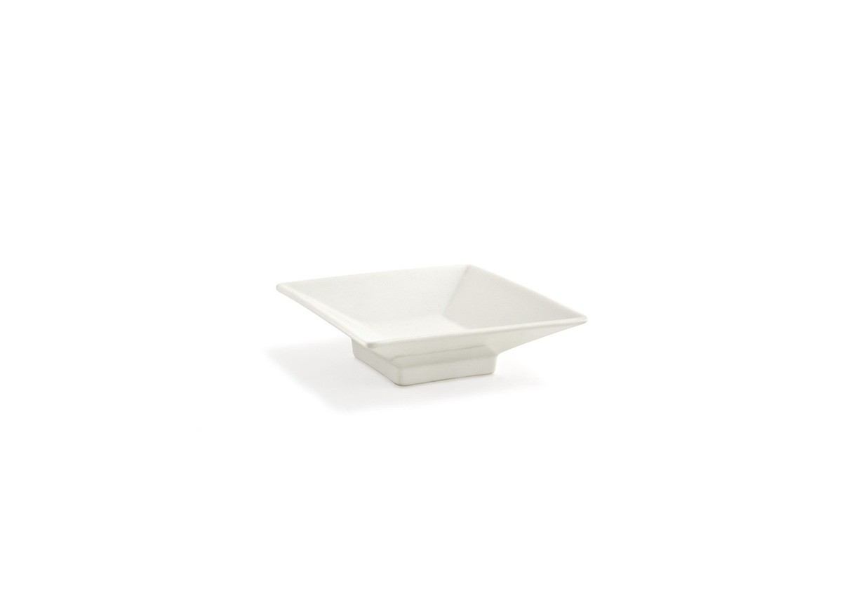 "4.5"" Square Footed Kyoto Dish - Eurowhite"
