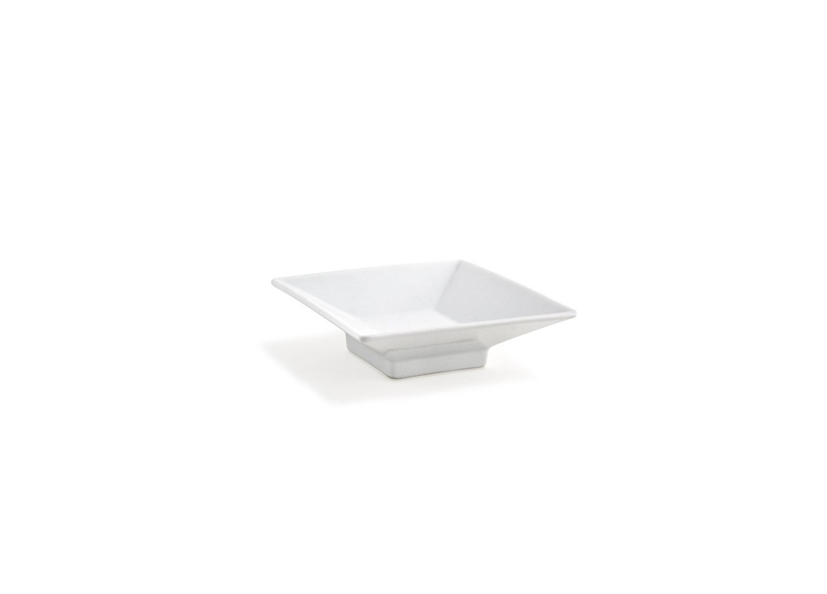 """4.5"""" Square Footed Kyoto Dish - White"""