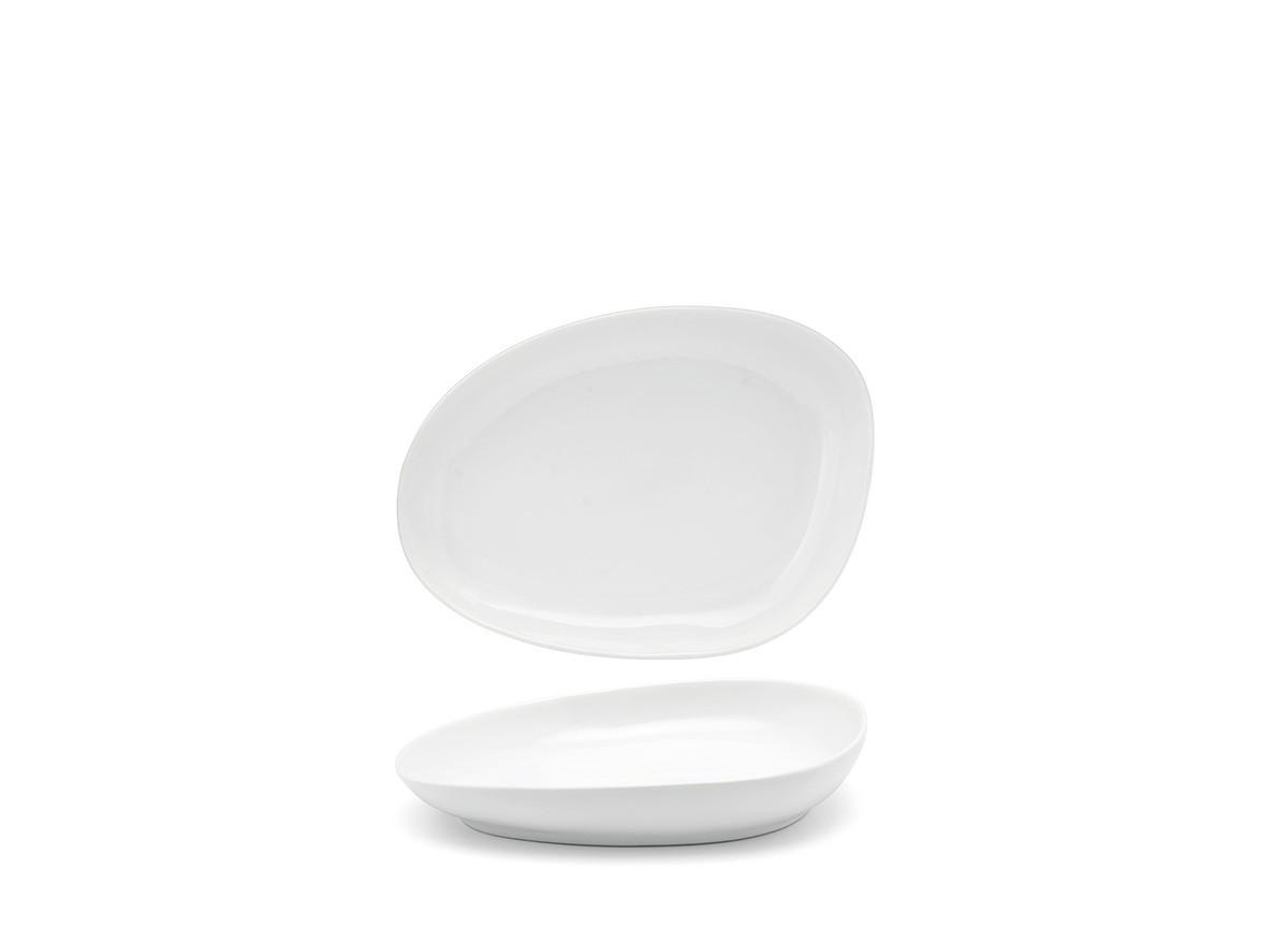 "8"" Oval Kiln Plate - White"