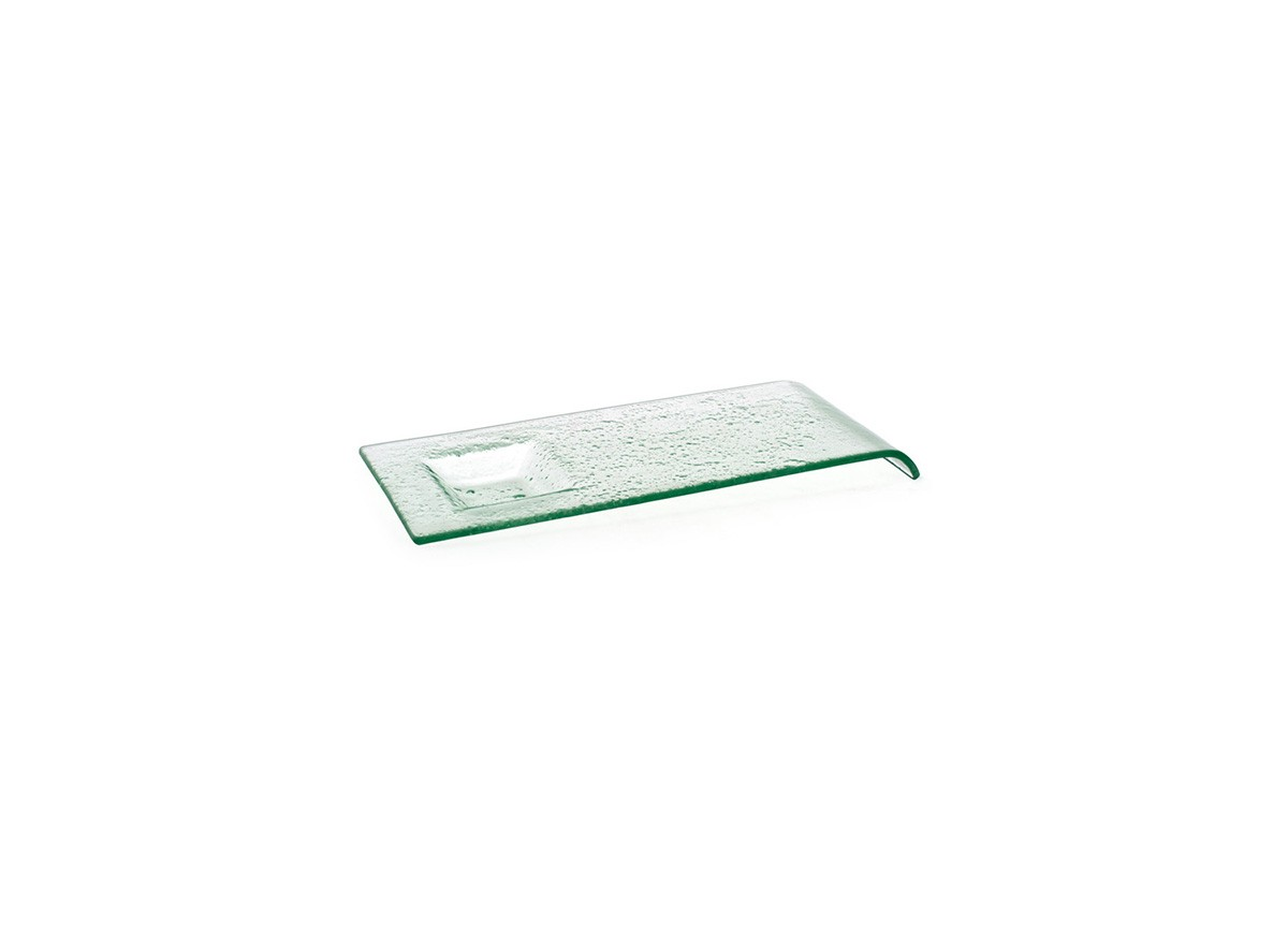 """12"""" Arctic Rectangle Plate - Clear"""