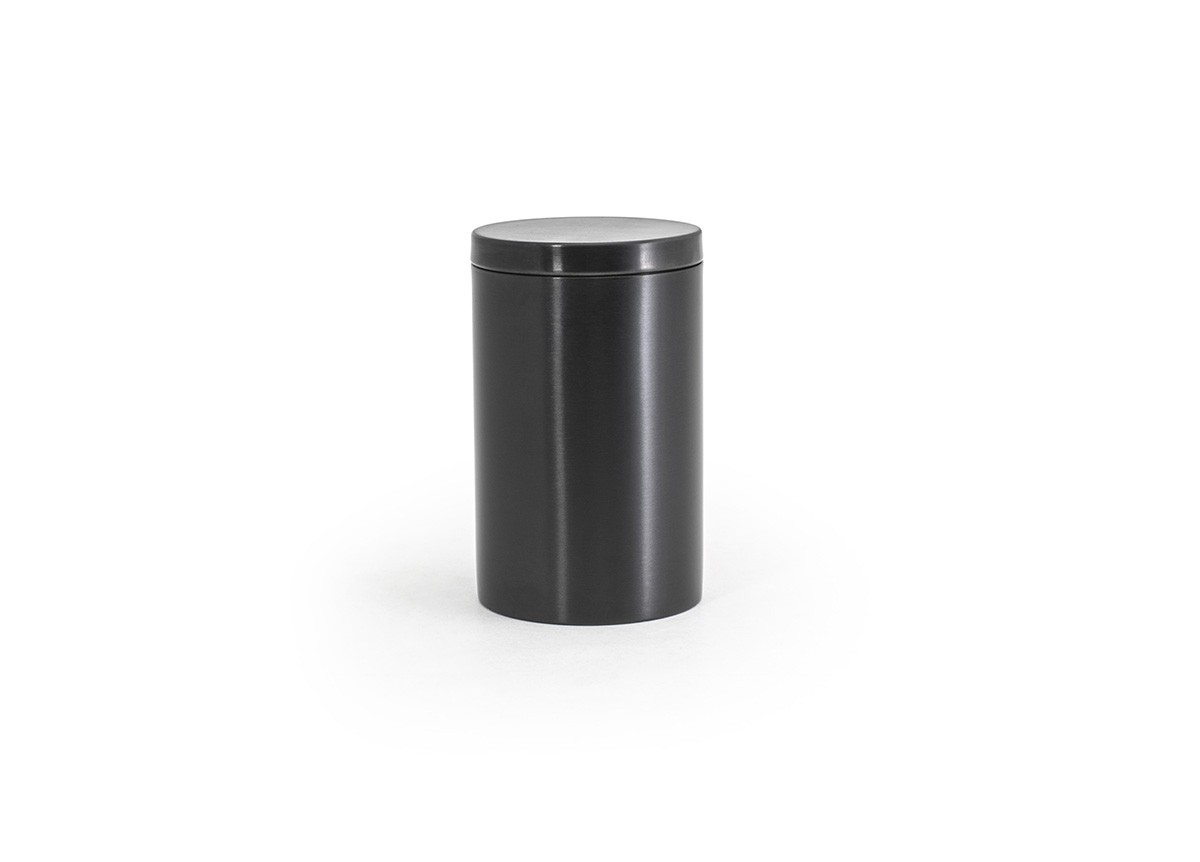 SS Jar with Lid - Matte Black with Matte Black Lid