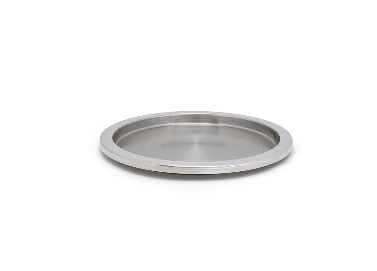 """14"""" Round SS Tray - Silver"""
