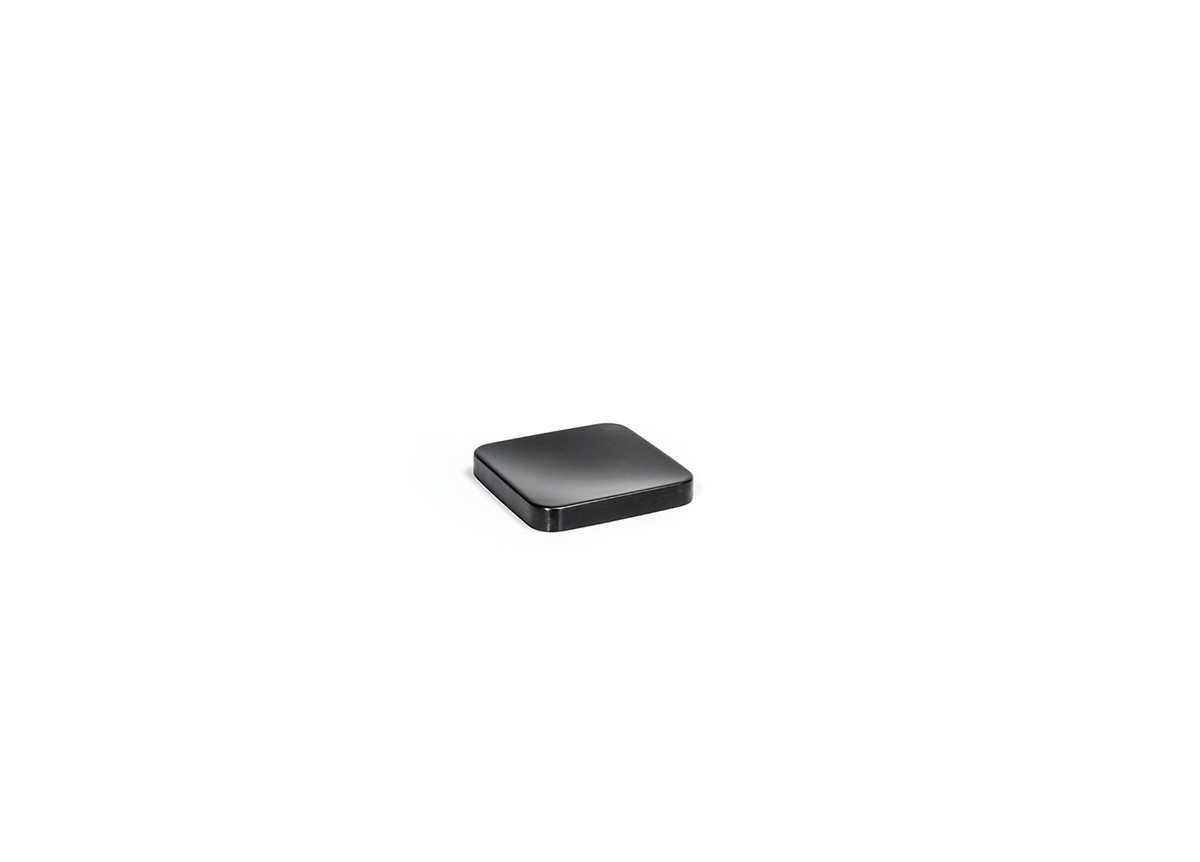 "4"" Square Brushed Stainless Dish - Matte Black"