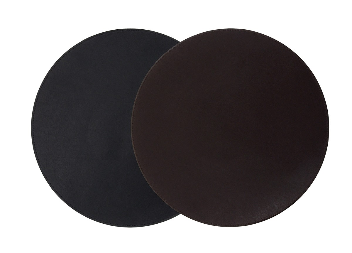 "12"" Round Reversible Liner/Mat - Black/Brown"
