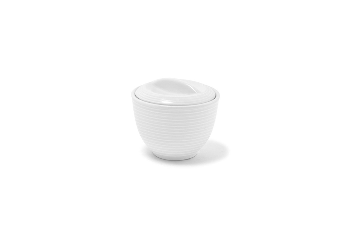 6oz Spiral Sugar Pot - White