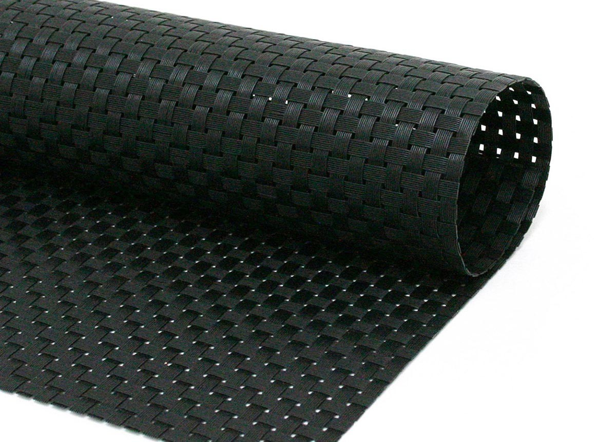Large Basketweave - Black