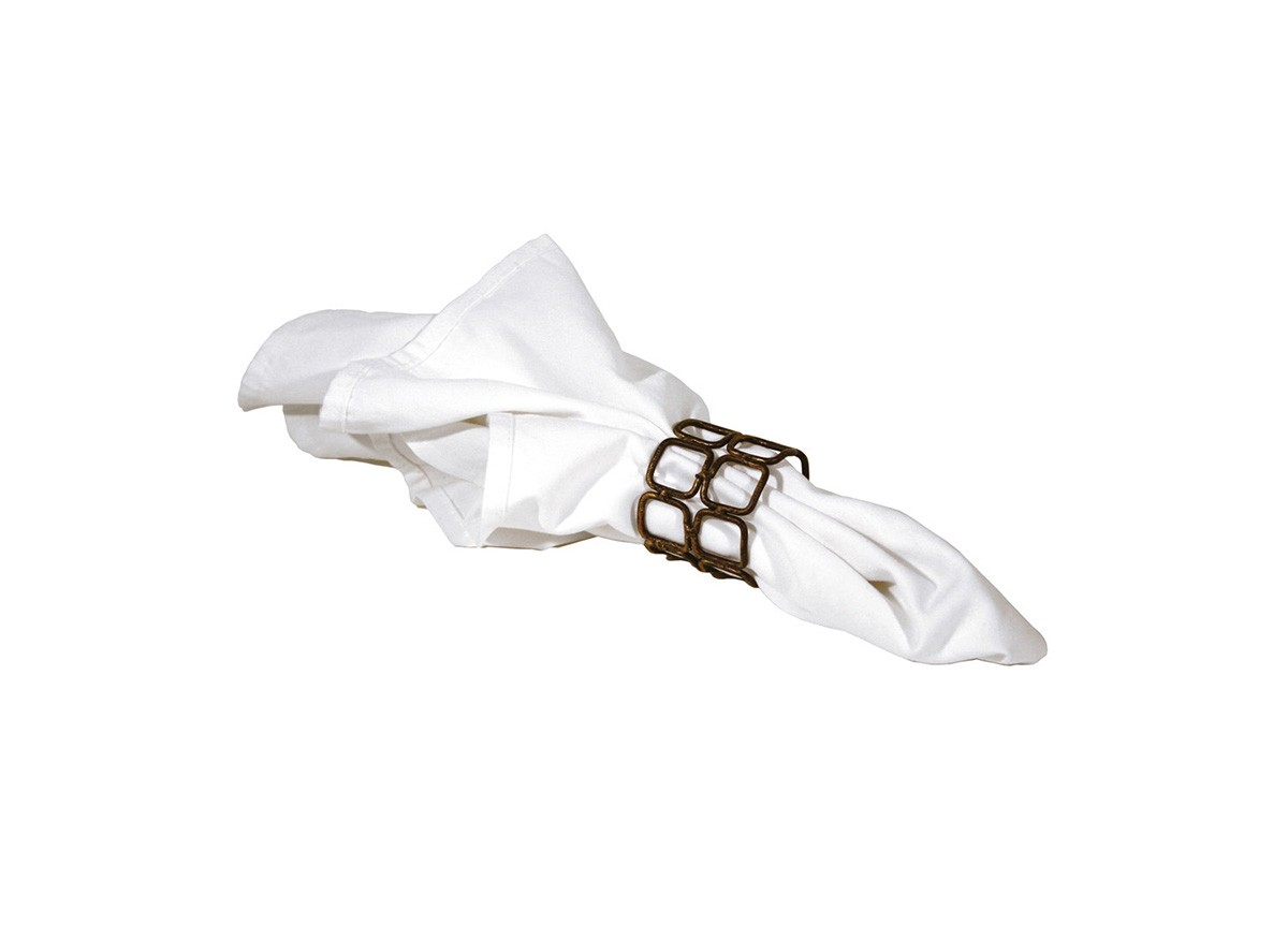 """2"""" Coppered Link Napkin Ring"""