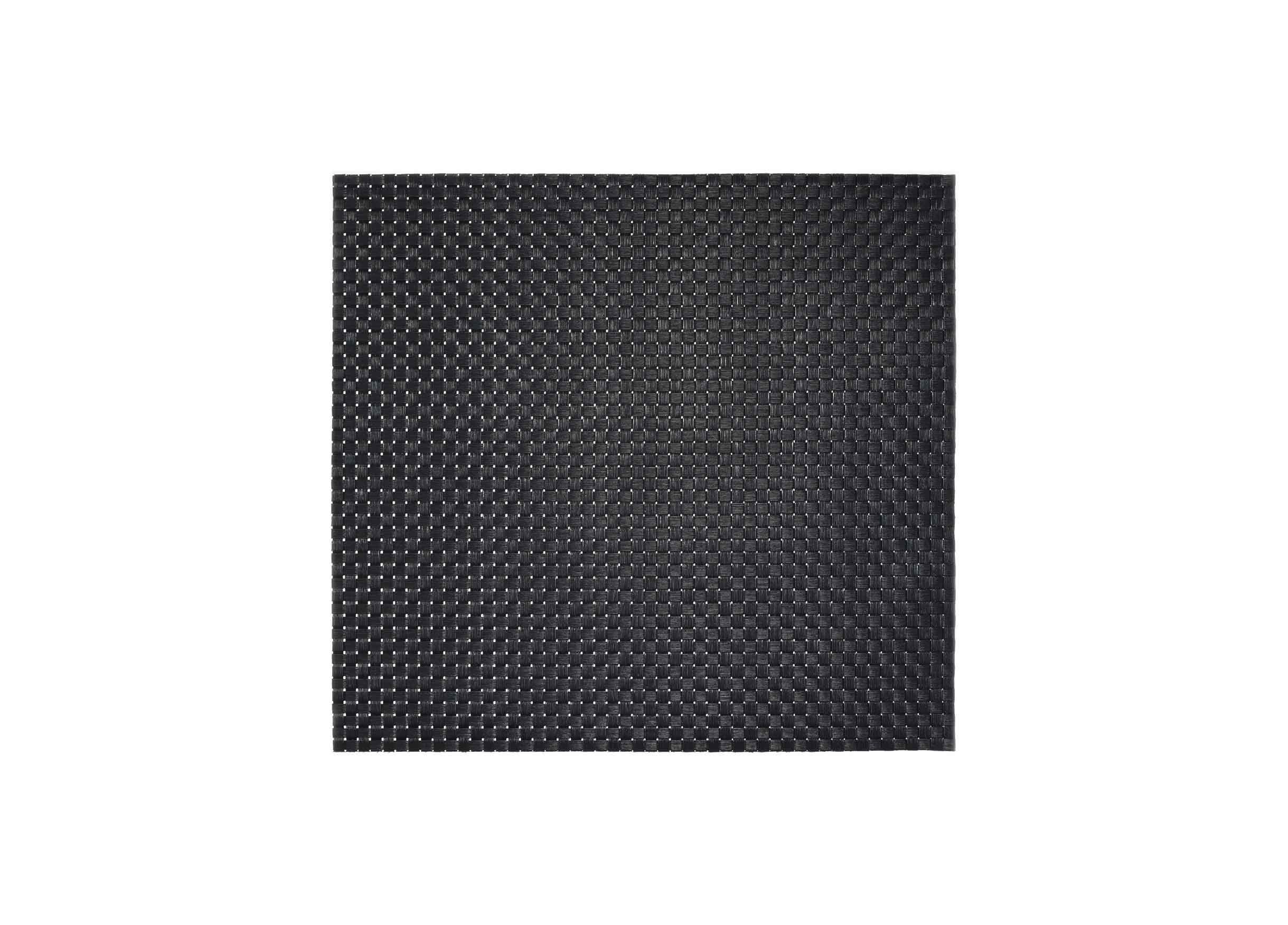 "13"" x 14"" Large Basketweave Mat - Black"