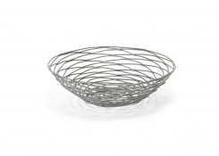 "10"" Round Pewter Basket"