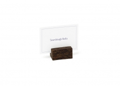Palm Wood Menu/Placecard Holder