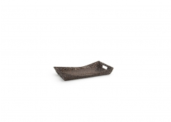 "Rattan 11"" Rectangle Flare Tray - Chocolate"