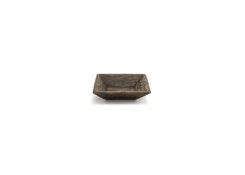 "4.5"" Square Palm Wood Tray"