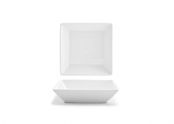 "5.5"" Square Spiral Bowl - White"