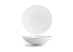 "11.5"" Spiral Wide Bowl - White"