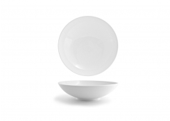 "10"" Spiral Wide Bowl - White"