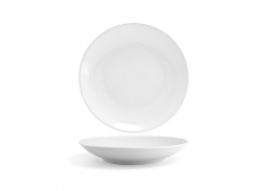"11.5"" Spiral Low Bowl - White"