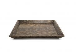 "12"" Square Palm Wood Tray"