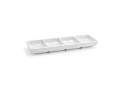 Stackable Four Compartment Dish