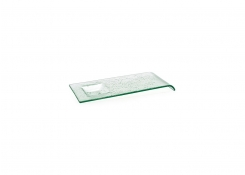 "12"" Arctic Rectangle Plate - Clear"