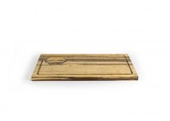 "13"" x 7"" Rustic Chic Crushed Bamboo Board"