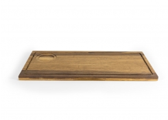 "17"" x 8"" Rustic Chic Crushed Bamboo Board"