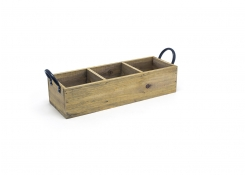 "13.75"" x 4.75"" Rustic Wood Holder"