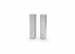 "4.75"" Tall Square SS Salt & Pepper"