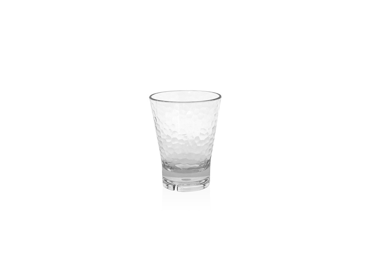 14oz Drinkwise®  Hammered Rocks - Clear
