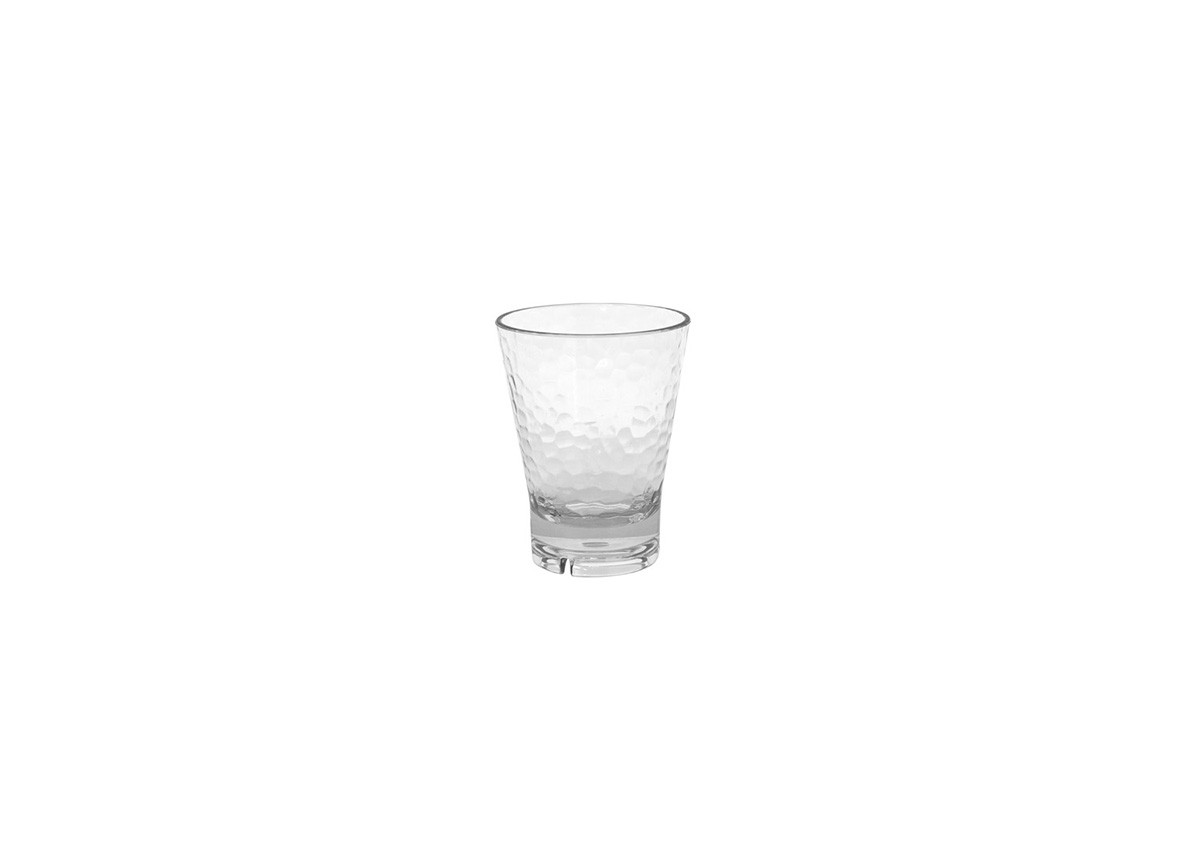 10oz Drinkwise Hammered Rocks - Clear