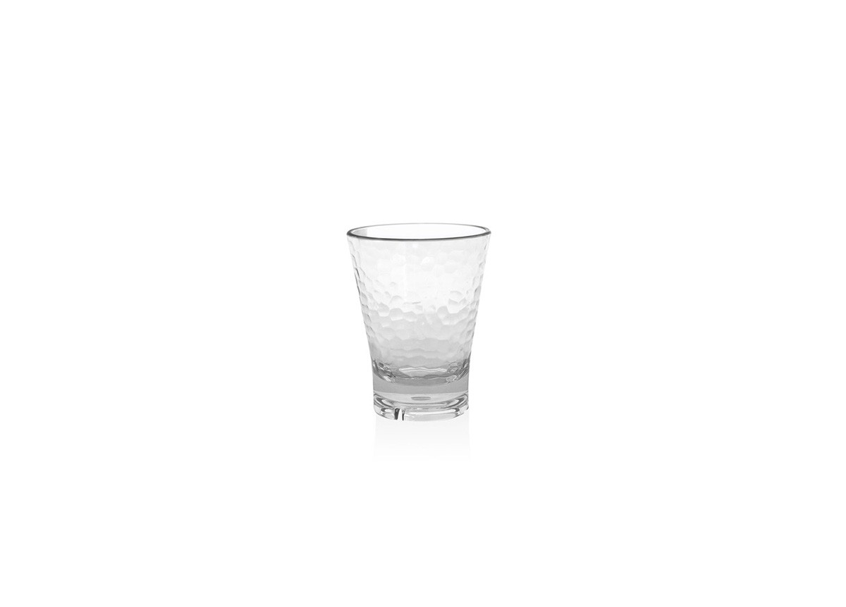 12oz Drinkwise Hammered Rocks - Clear