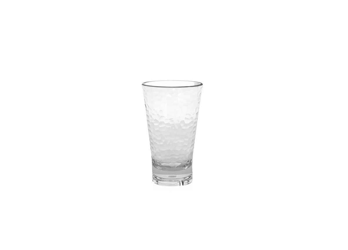16oz Drinkwise®  Hammered Highball - Clear
