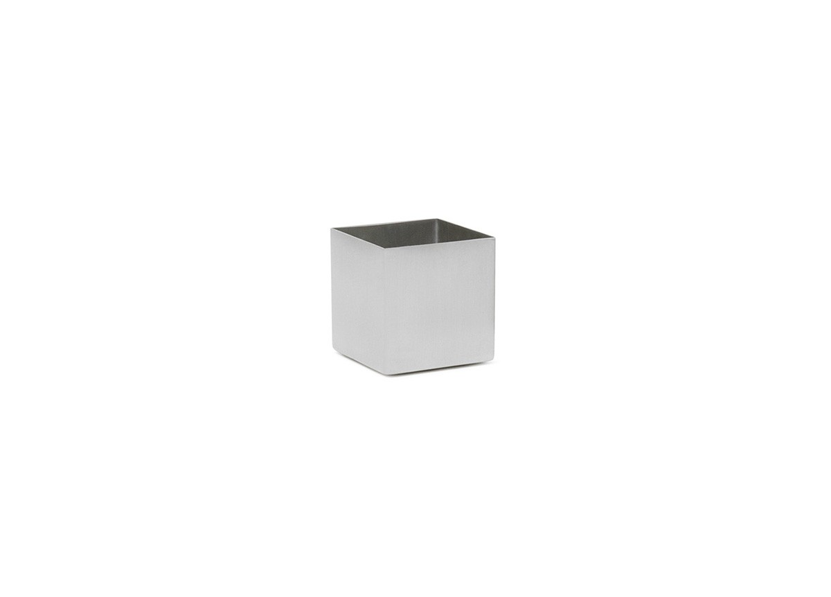 4oz Square Brushed Stainless Canvas Ramekin - Silver