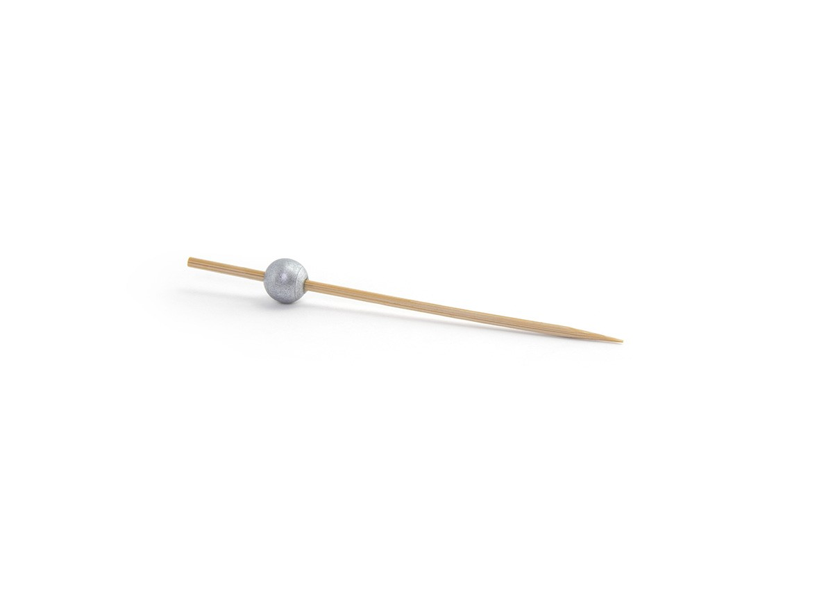 "4.5"" Silver Ball Pick - 100 per Bag"